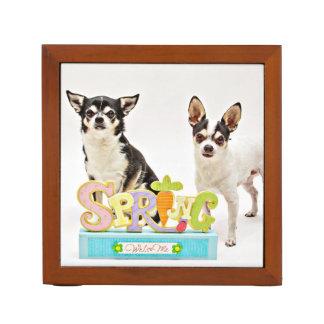 Spring Chihuahua's Desk Organiser