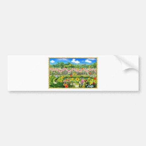 spring cottage garden bumper stickers