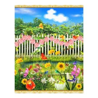spring cottage garden flyer