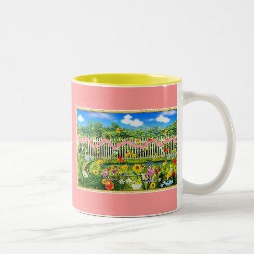 spring cottage garden coffee mug