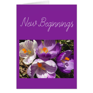 Spring Crocus New Beginnings Card