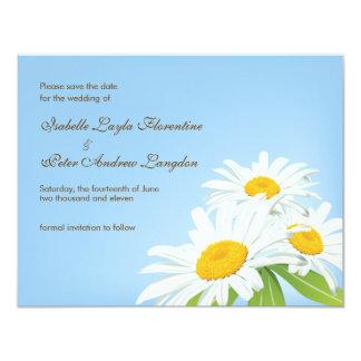 Spring Daisies Save the Date Wedding Card 11 Cm X 14 Cm Invitation Card