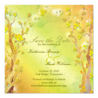 Spring Delight Bohemian Wedding Save the Date 13 Cm X 13 Cm Square Invitation Card