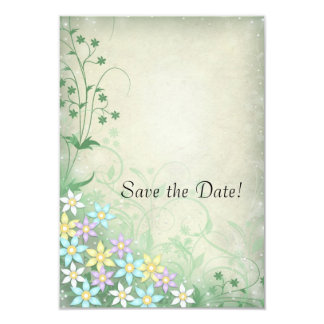 Spring Dream Floral Wedding Save the Date Cards