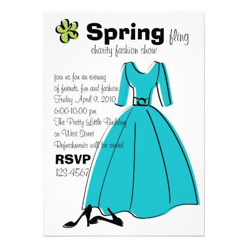 Spring Fling Fashion Illustration Invites