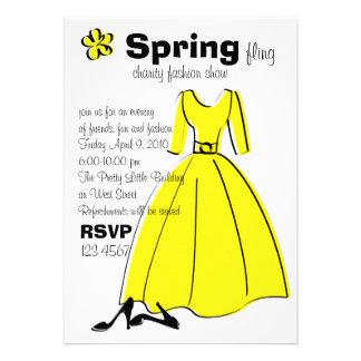 Spring Fling Fashion Illustration Invitations