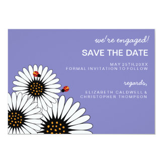 Spring Fling Gerbera Daisies SAVE THE DATE Card