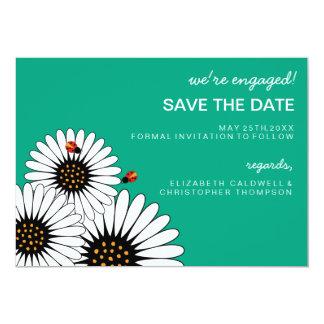 Spring Fling Gerbera Daisies SAVE THE DATE-green 13 Cm X 18 Cm Invitation Card