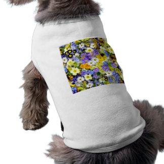 Spring Floral Color Burst Collage Shirt