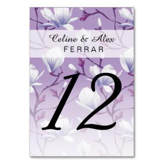 Spring Flower Garden | grape lilac Table Card