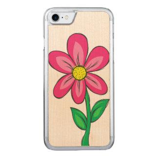 Spring Flower Illustration Carved iPhone 8/7 Case