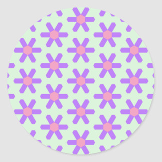 Spring Flower Tiled Hex Sticker