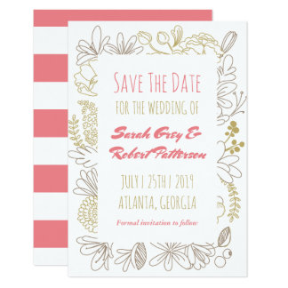 Spring Flowers Floral Garden Wedding Save The Date Card