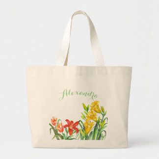 Spring Flowers Large Tote Bag