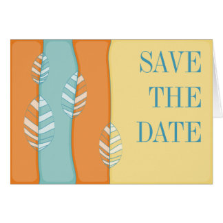 Spring Foliage Save the Date Notecard