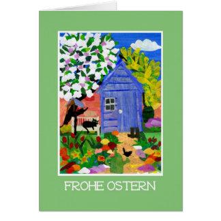 'Spring Garden' Easter Card - German Greeting