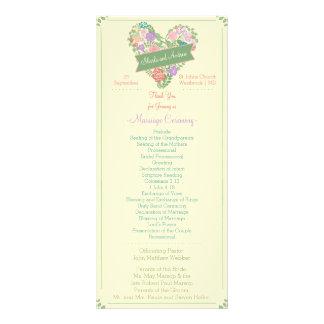 Spring Garden Floral Wedding Program 10 Cm X 23 Cm Rack Card