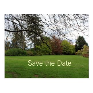 Spring garden save the date postcard