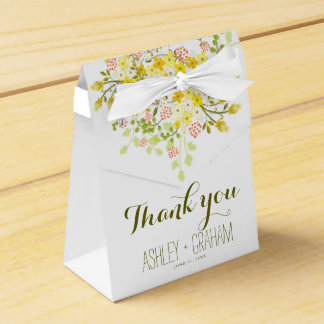 Spring Glory Personalized Floral Wedding Favor Box Wedding Favour Box