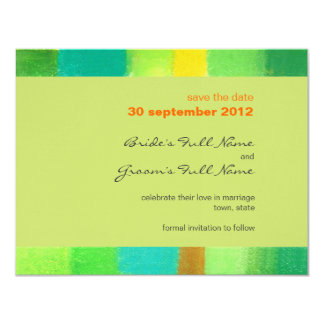 Spring goldenrod Wedding Save the Date Card