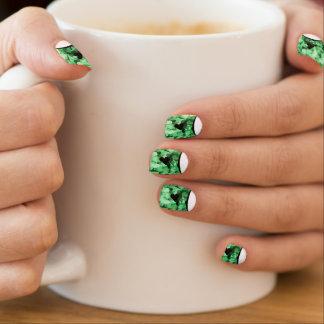 Spring Green Heart Nail Art Kawaii Background