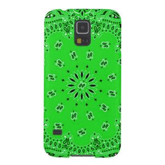 Spring Green Paisley Western Bandana Scarf Print Galaxy S5 Covers