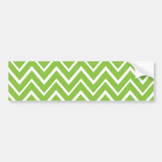 Spring green whimsical zigzag chevron pattern bumper sticker