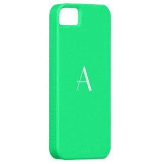 Spring Green White Monogram Case For The iPhone 5