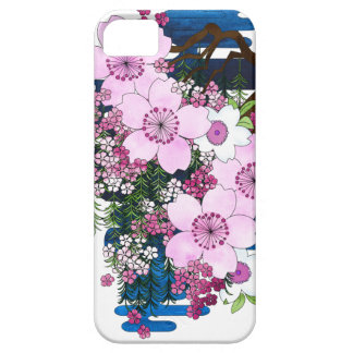 Spring in Japan - Cute and Girly Pink Kimono Style iPhone 5 Case