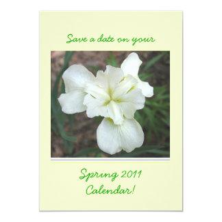 Spring Iris save-the-date wedding invite