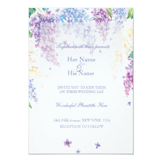 Spring Lilac Flower Blossom-Floral Wedding Card