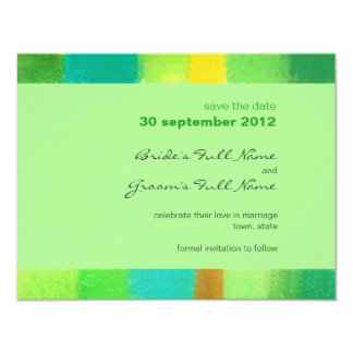 Spring mint Wedding Save the Date Announcement