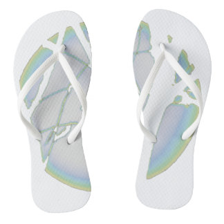 """Spring Moon"" Pale- Flip Flops, White Thongs"