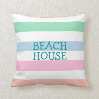 Spring or Summer Beach House Throw Pillow
