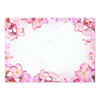 Spring pink flowers card