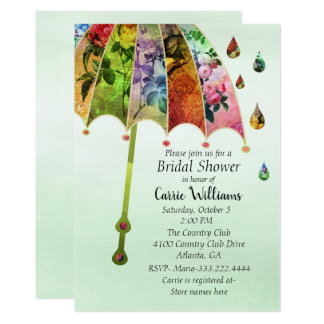 Spring Rain Bridal Shower Invitation