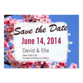 Spring Romantic Save the Date Announcement