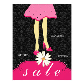 Spring Sale Flyer Fashion Shoes