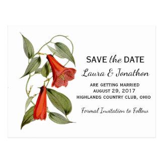Spring Save the Date postcard vintage botanical