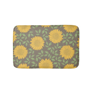 Spring Sunflower Pattern Bath Mats