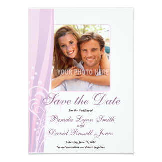 Spring Swirl Save the Date Photo Announcements
