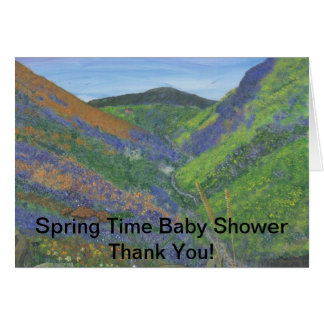 Spring Time Baby Shower Thank You! Greeting Card