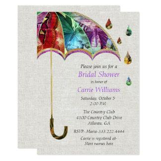 Spring Umbrella Bridal Shower Invitation