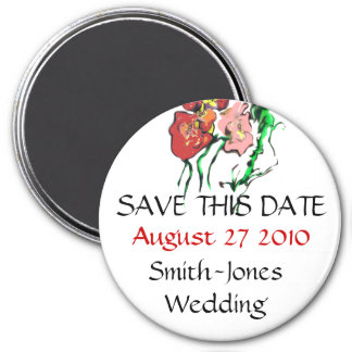 SPRING WEDDING PRODUCTS 7.5 CM ROUND MAGNET