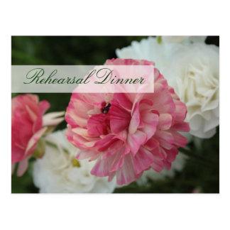 Spring Wedding Rehearsal Dinner Invitation Cards Postcard