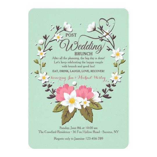 Spring Wreath Post Wedding Brunch Invitation