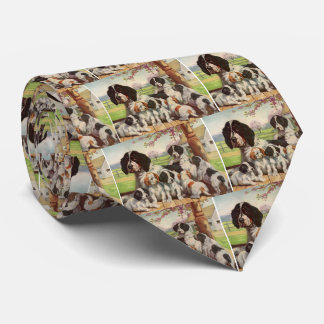 springer spaniel mom and puppies tie