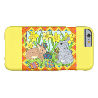 Springtime Bunnies with Colorful Eggs Barely There iPhone 6 Case