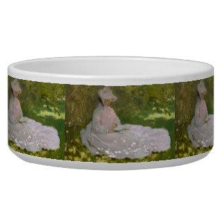 Springtime by Claude Monet Dog Bowls