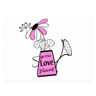Sprinkle Can Grow Love Plant Tshirts and Gifts Postcard